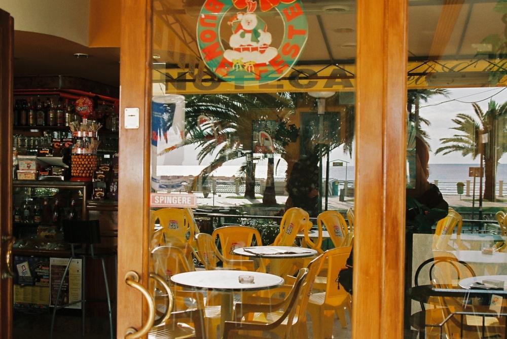 Cafe reflection