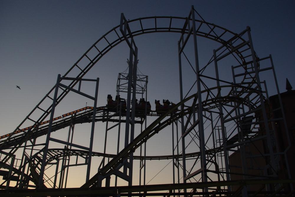 Roller-coaster on Brighton pier