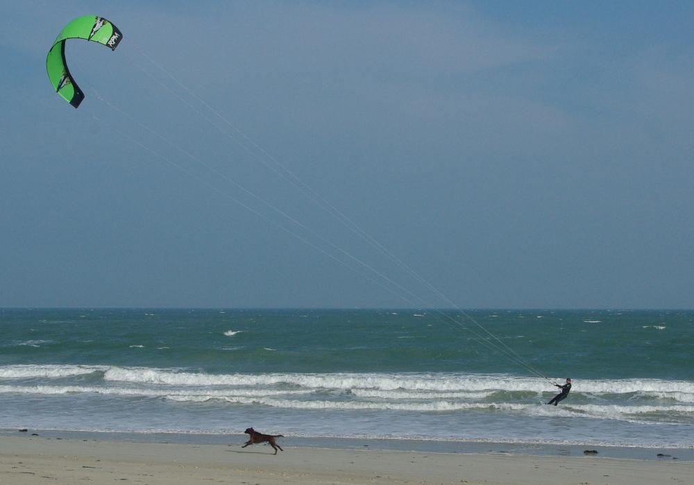 Kite chasing