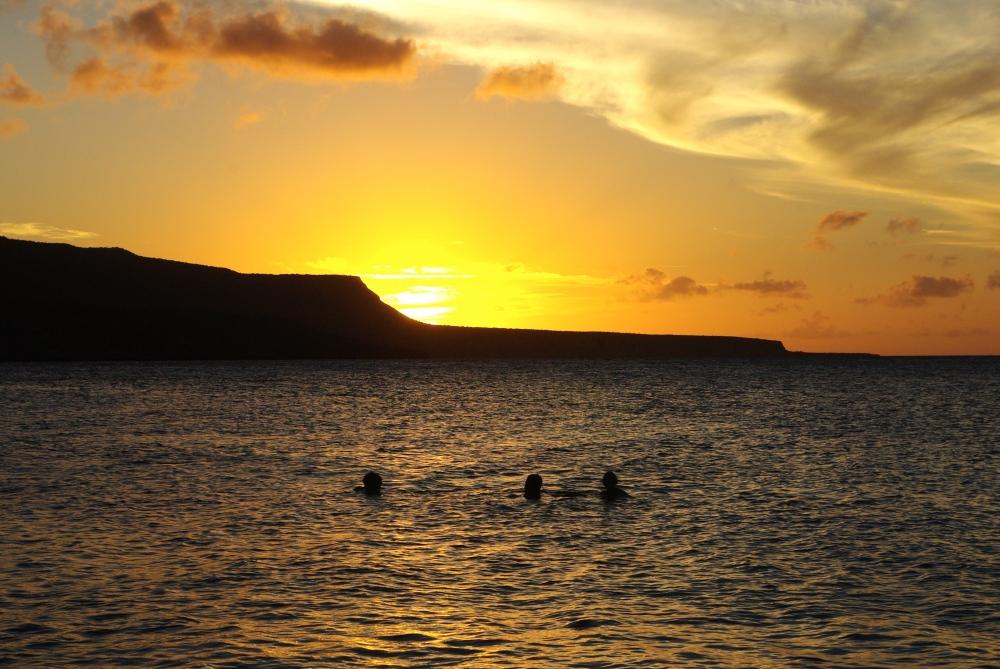 Sunset swim