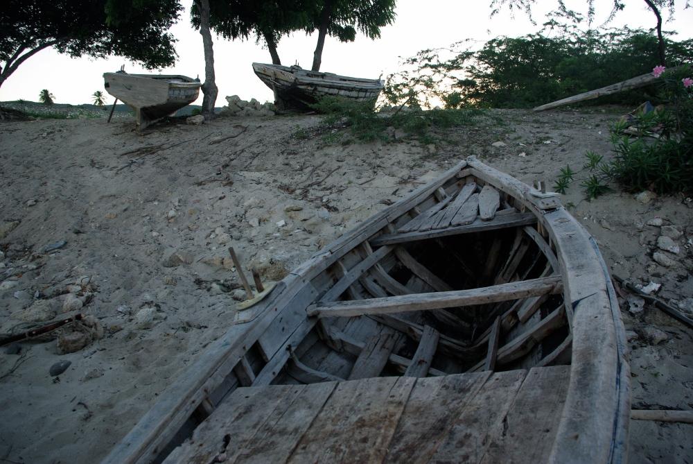Old boats at Mole
