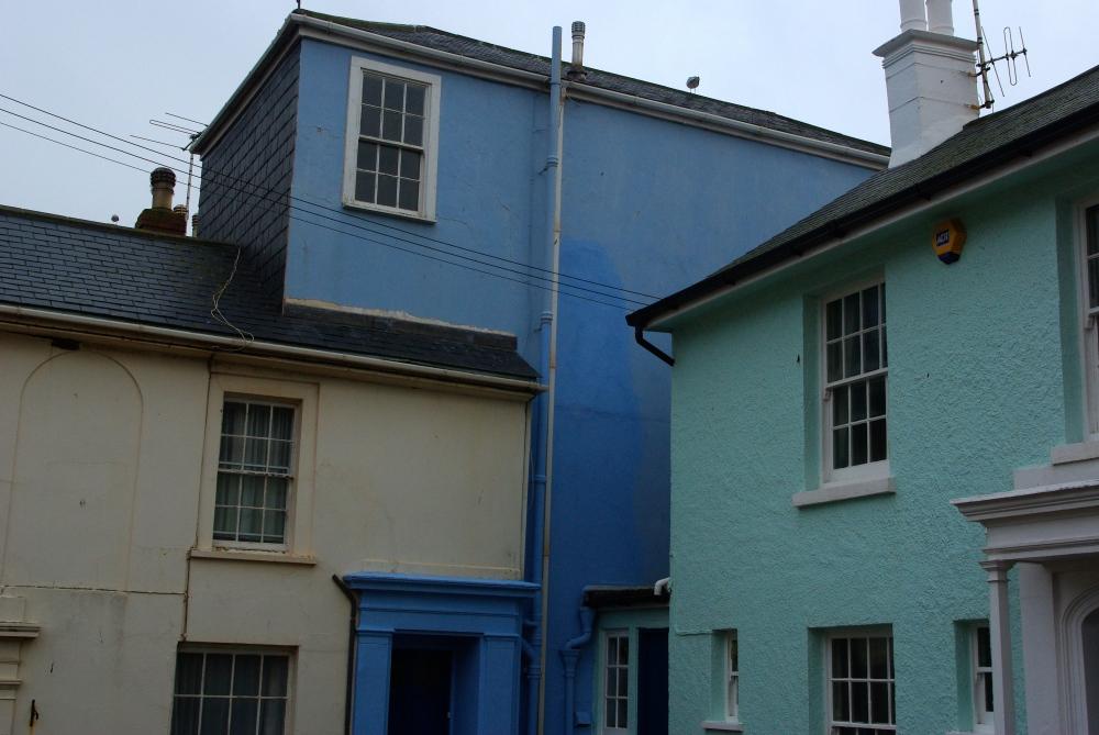 Blue houses
